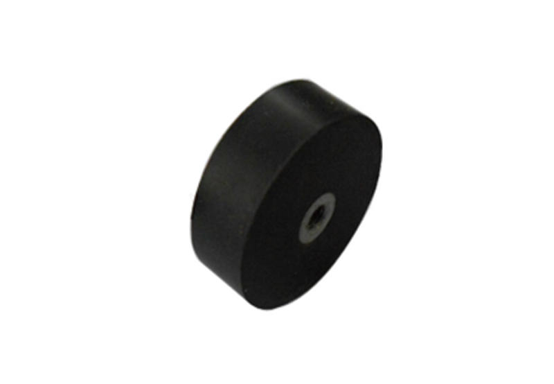Neodymium rubber coated pot magnet with female thread-2