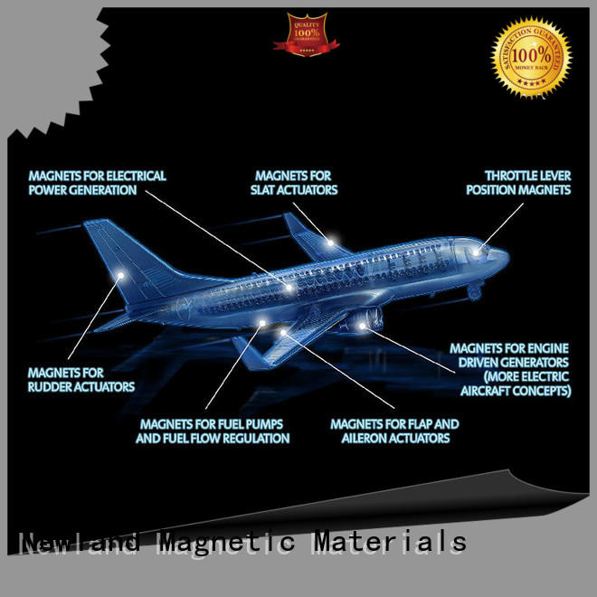 Magnets and magnetic assemblies applied on aerospace industry