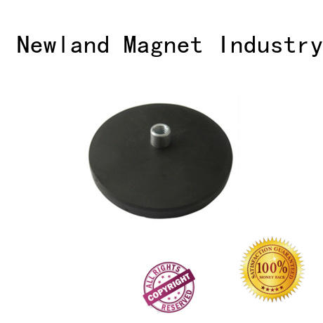 Newland magnetic permanent magnetic pulley rubber for tracker